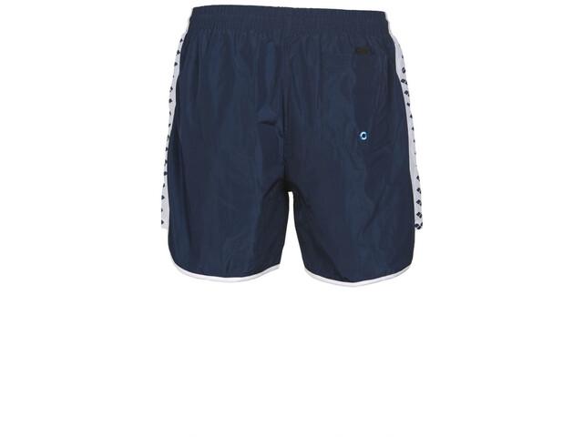 arena Team Stripe Short de bain Homme, navy/white/navy